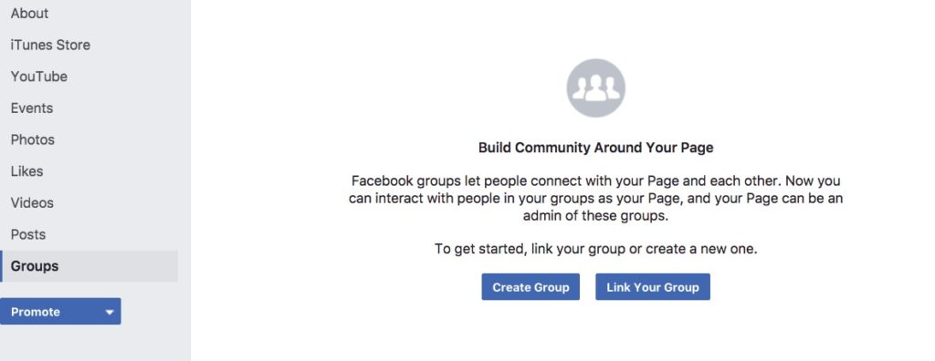 connect a facebook group to a facebook page