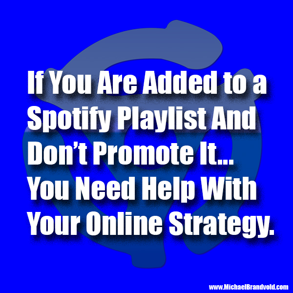 If You Are Added to a Spotify Playlist You NEED to Promote the Playlist