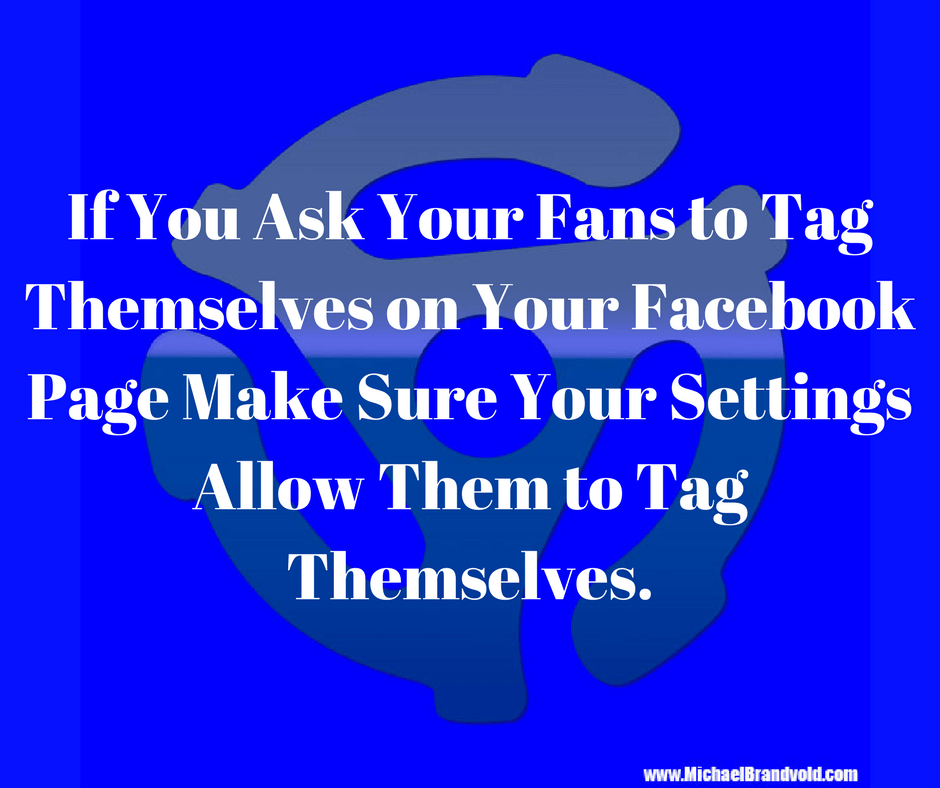 Ask Your Fans to Tag Themselves on Your Facebook Page