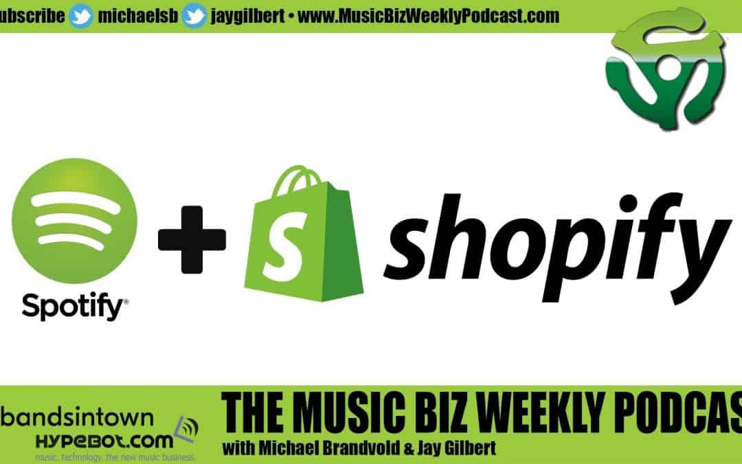 Ep. 495 Spotify Announces Integration with Shopify Stores, Sell Your Merch on Spotify